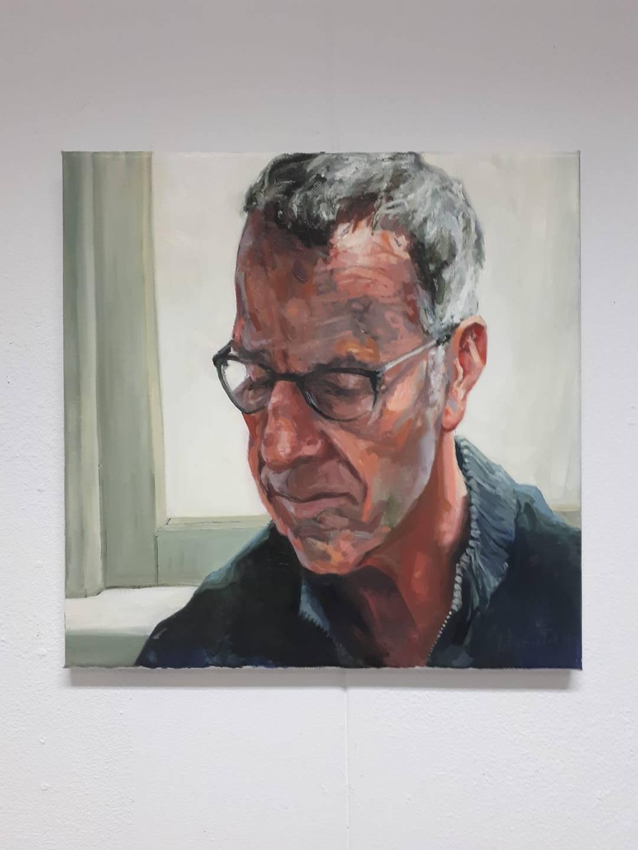 portret olieverf Jo Dumon Tak